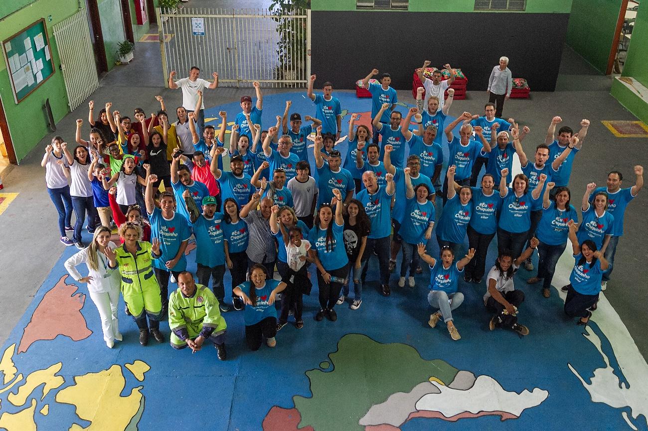 Zilor promove ação de Voluntariado em escola pública de Quatá
