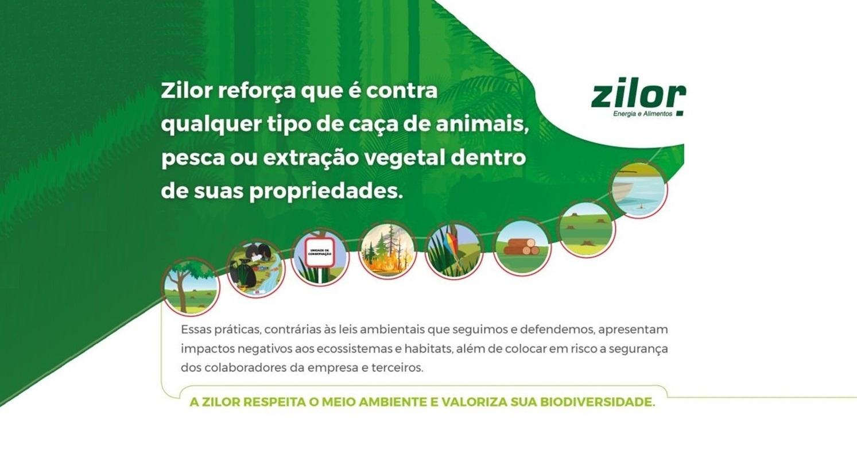 Zilor proibe a caça de animais, pesca ou extração vegetal dentro de suas propriedades