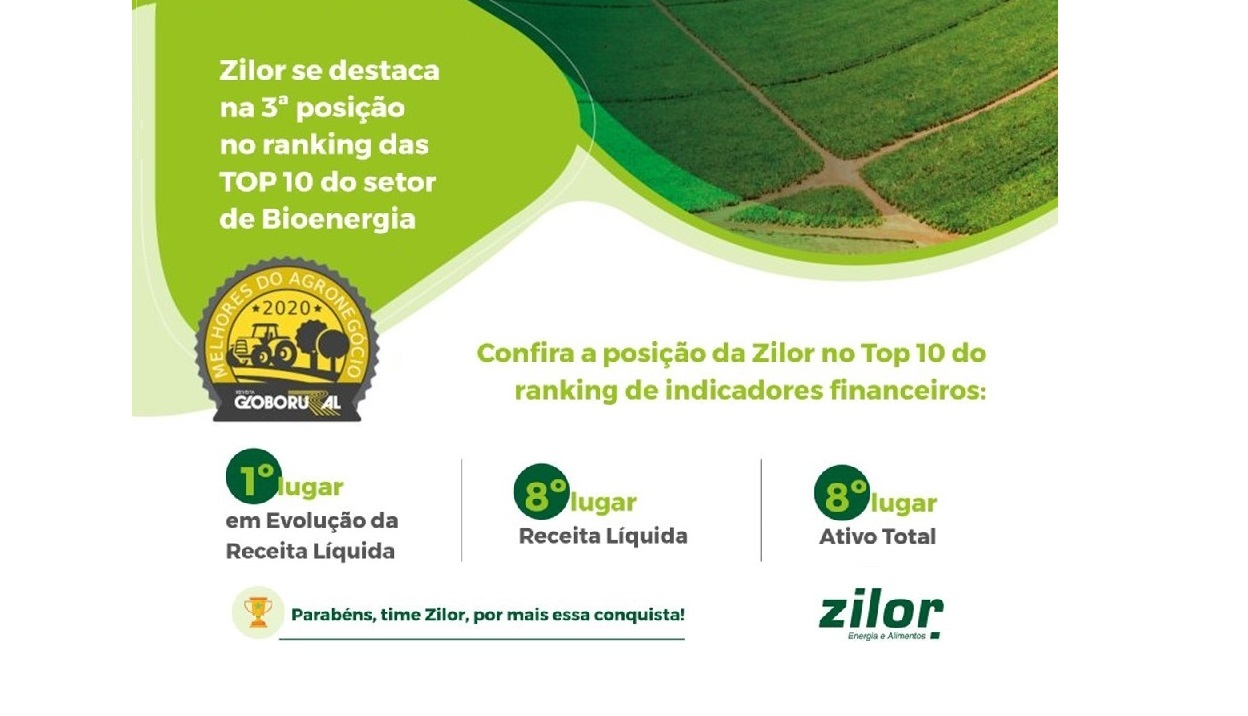 Zilor é TOP 3 do setor de Bioenergia do país