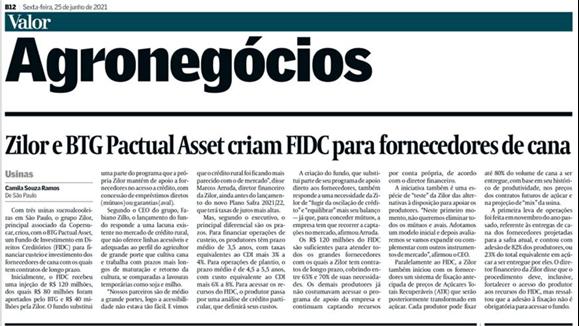 Zilor lança programa de financiamento de Parceiros Agrícolas por meio de FIDC