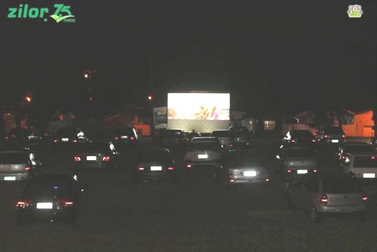 Projeto Cine Boa Praça drive-in em Macatuba foi um sucesso!