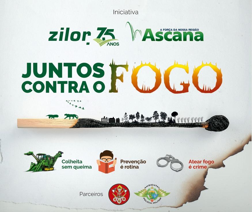 """Zilor e Ascana lançam a Campanha """"JUNTOS CONTRA O FOGO"""""""